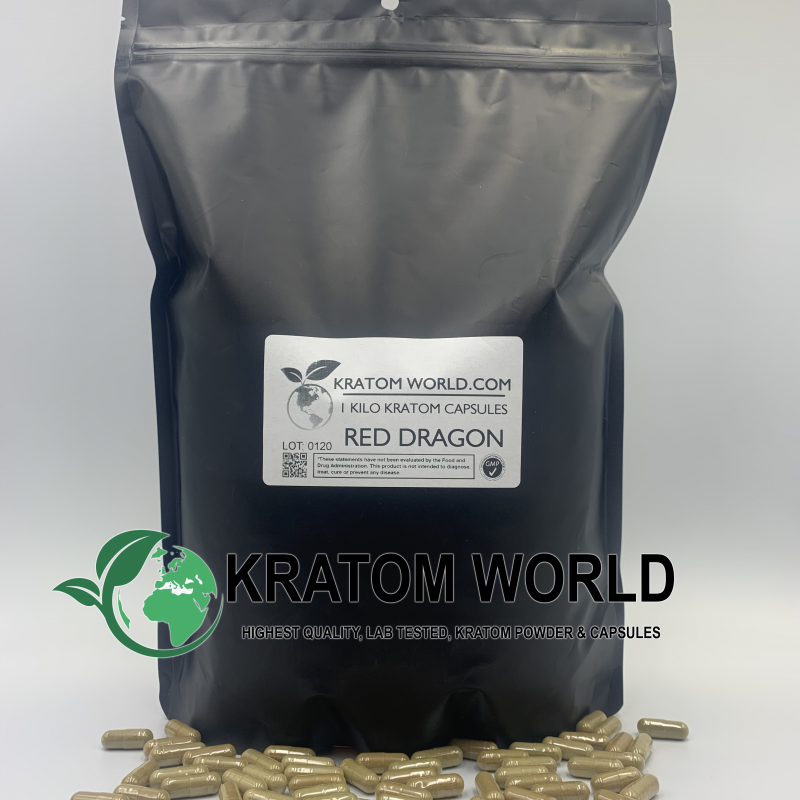 Red Dragon Kratom Capsules 1 Kilo (1000 grams)