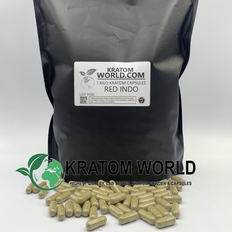 Red Indo Kratom Capsules 1 Kilo (1000 grams)