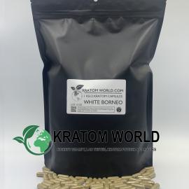 White Borneo Kratom Capsules 1 Kilo (1000 grams)