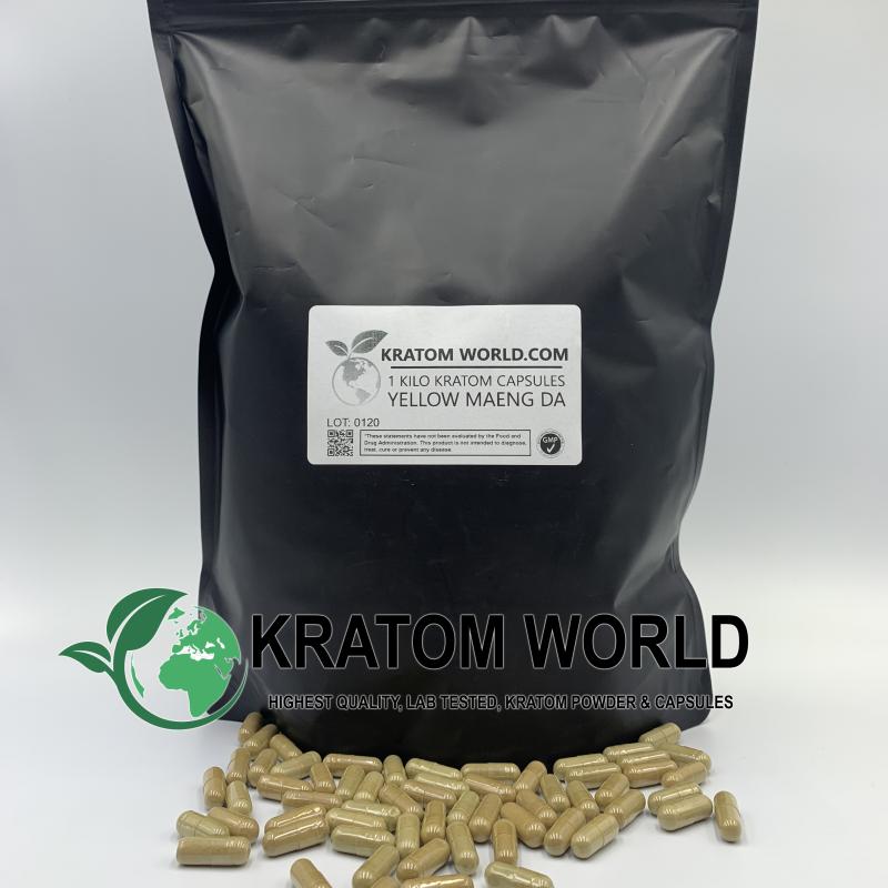 Yellow Maeng Da Kratom Capsules 1 Kilo (1000 grams)