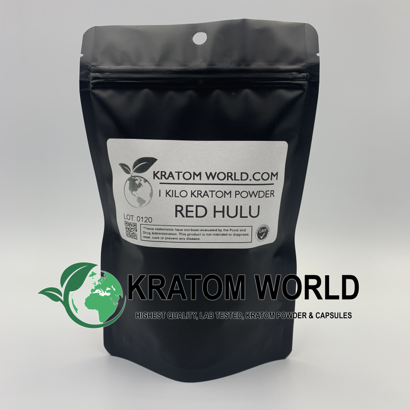 Red Hulu Kratom Powder Kilo (1000 grams)