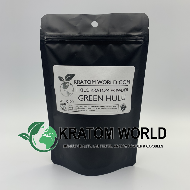 Green Hulu Kratom Powder Kilo (1000 grams)