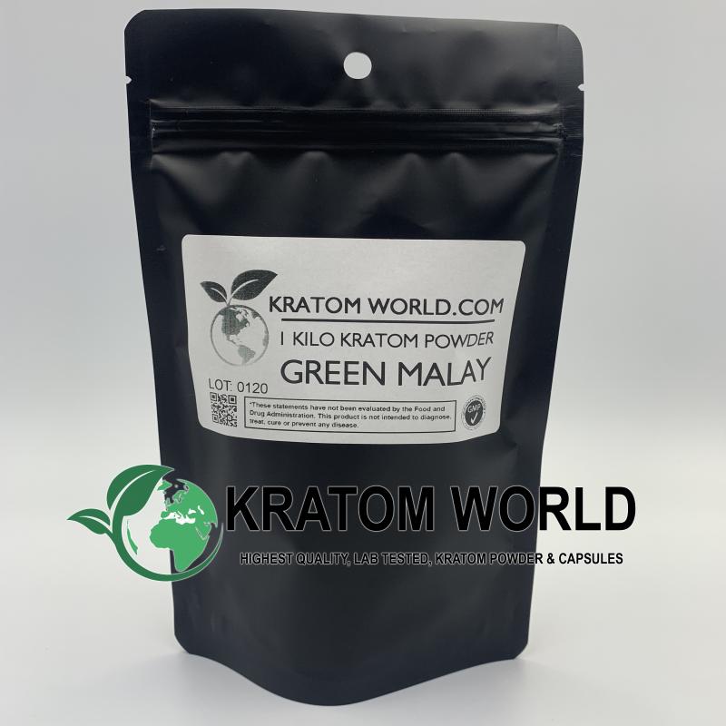 Green Malay Kratom Powder Kilo (1000 grams)